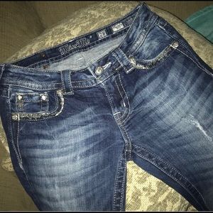 Miss Me 28 W 27.5Long Perfect Jeans Distressed ❤️